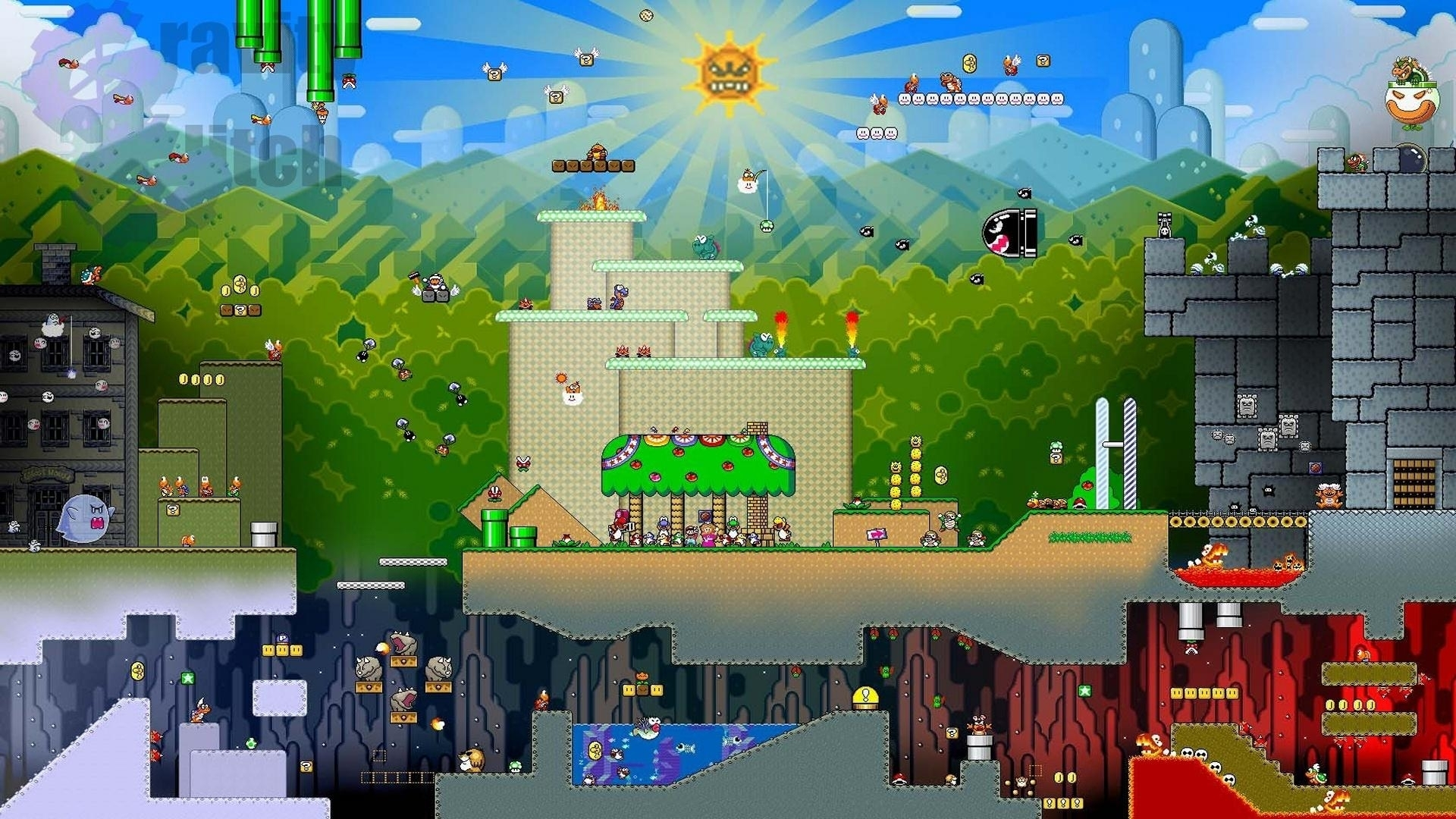 1 super mario world hd wallpapers | background images - wallpaper