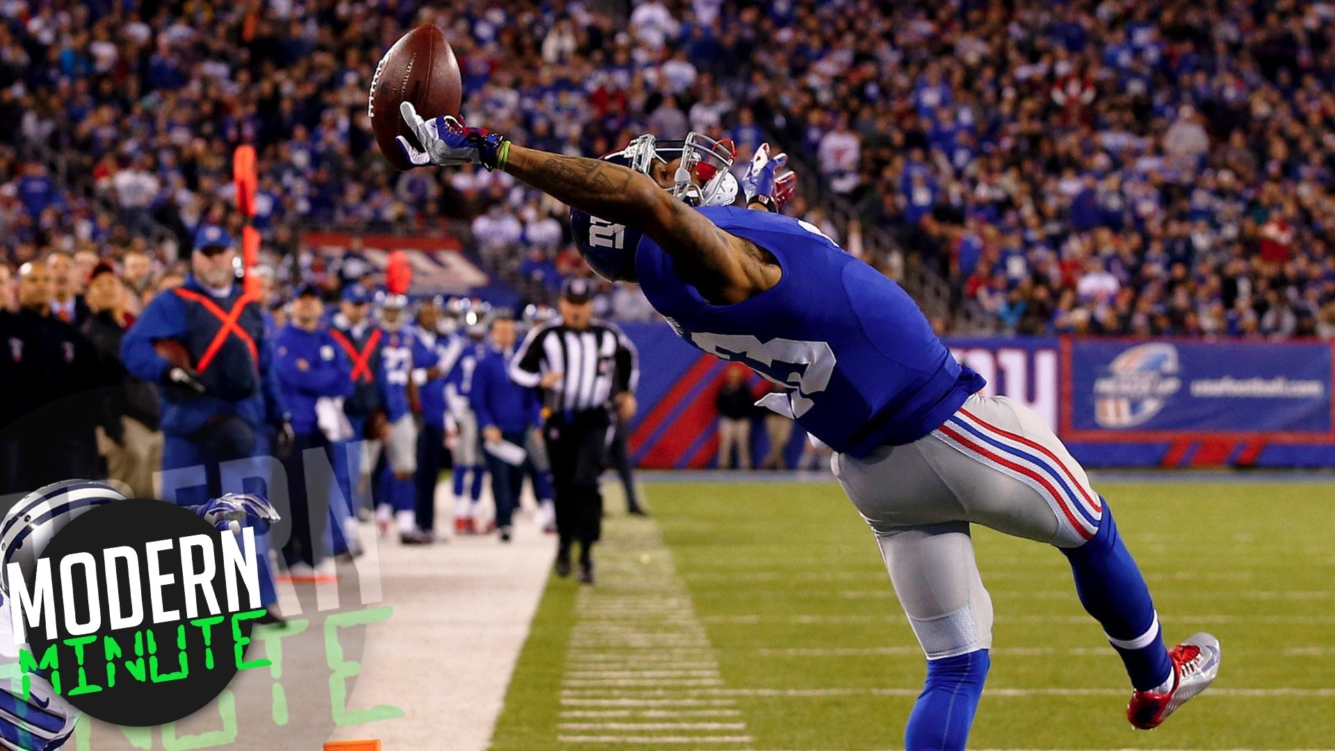 10 greatest touchdown catches in the nfl - youtube