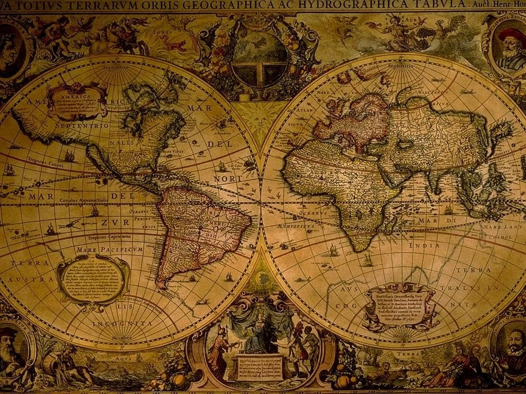 1024x768 ancient world map hd wallpaper | style | pinterest | espace