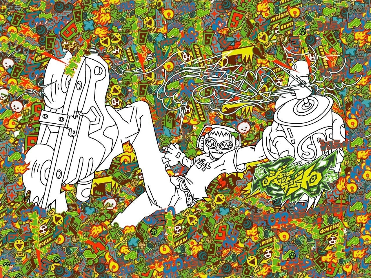11 jet set radio hd wallpapers | background images - wallpaper abyss
