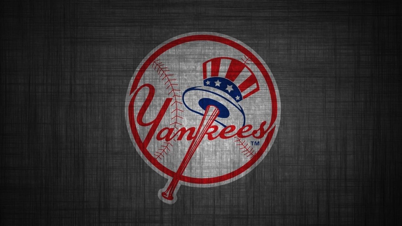 1366x768 baseball, ny yankees, ny yankees logo, new york yankees