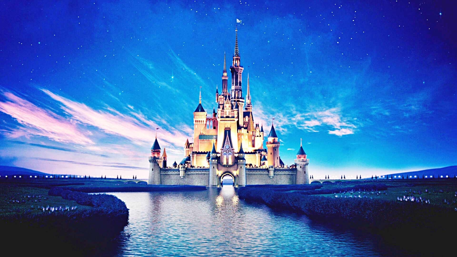 15263) disney castle desktop background wallpaper - walops