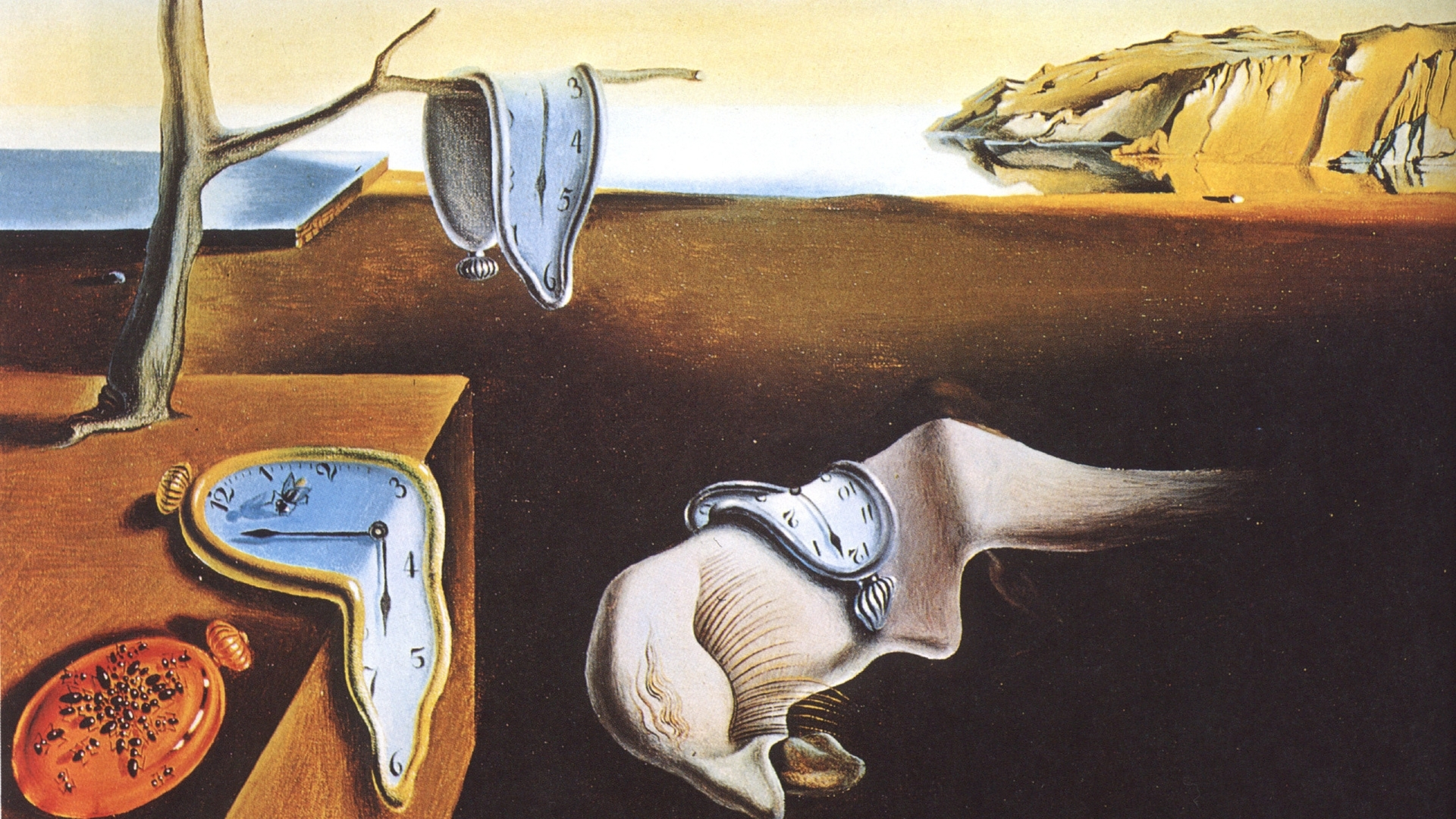 1920x1080 salvador dali, 1931, the persistence of memory, salvador