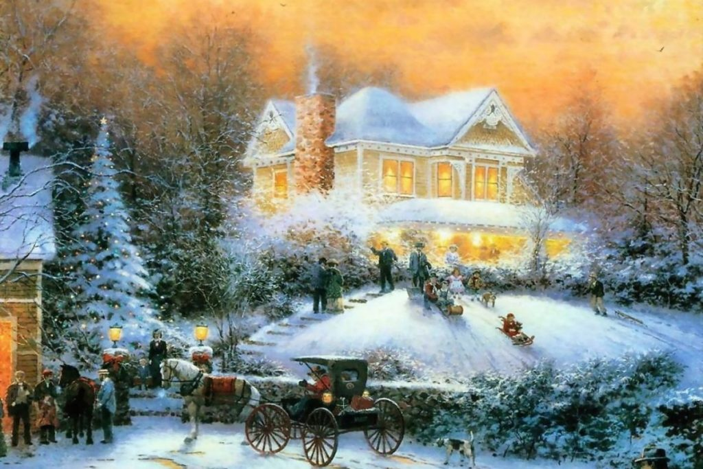10 New Thomas Kinkade Christmas Wallpaper Hd FULL HD 1920×1080 For PC Desktop 2018 free download 2015 free thomas kinkade christmas screensavers wallpapers 1024x683
