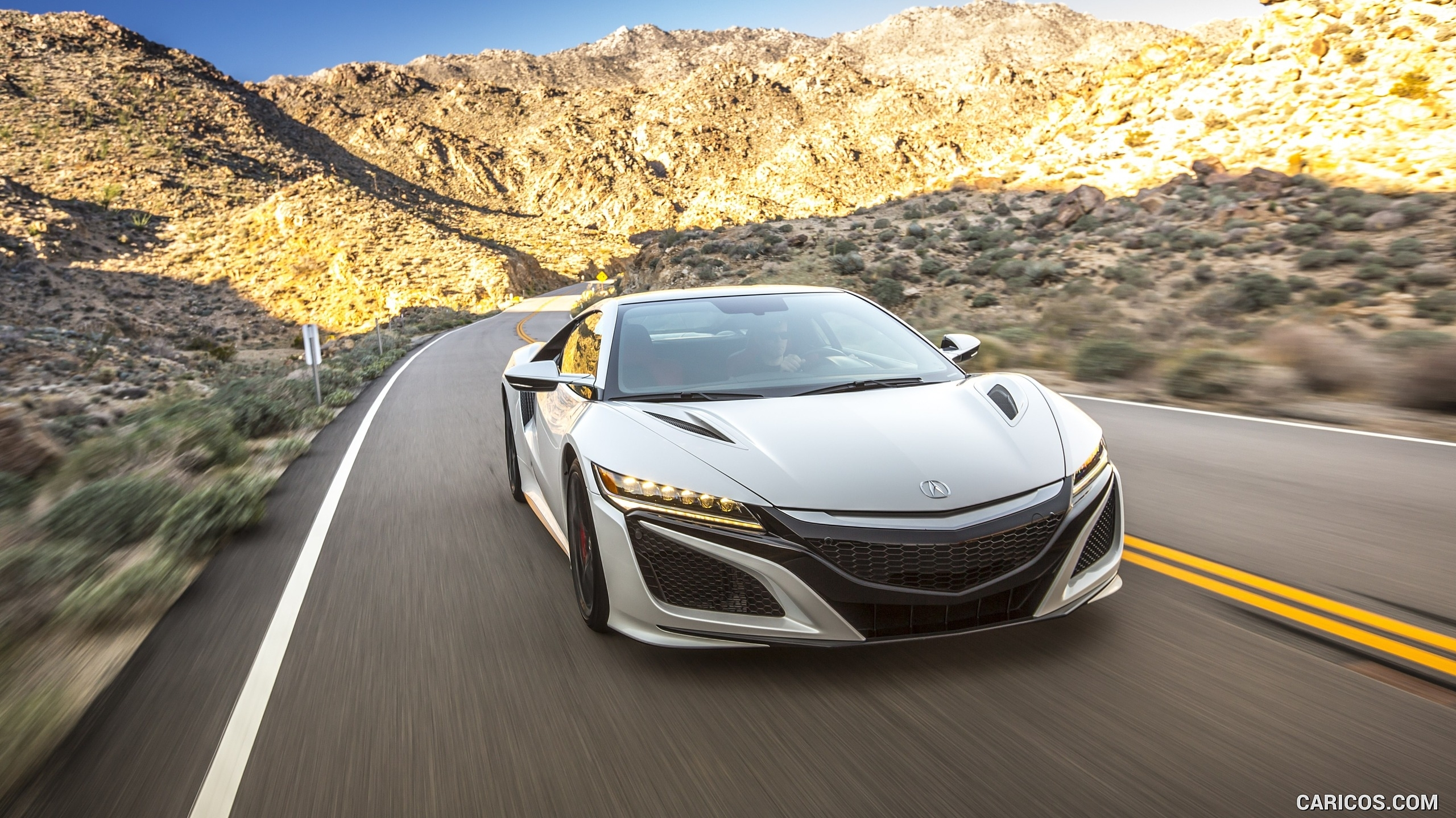 2017 acura nsx white - front | hd wallpaper #1 | 2560x1440