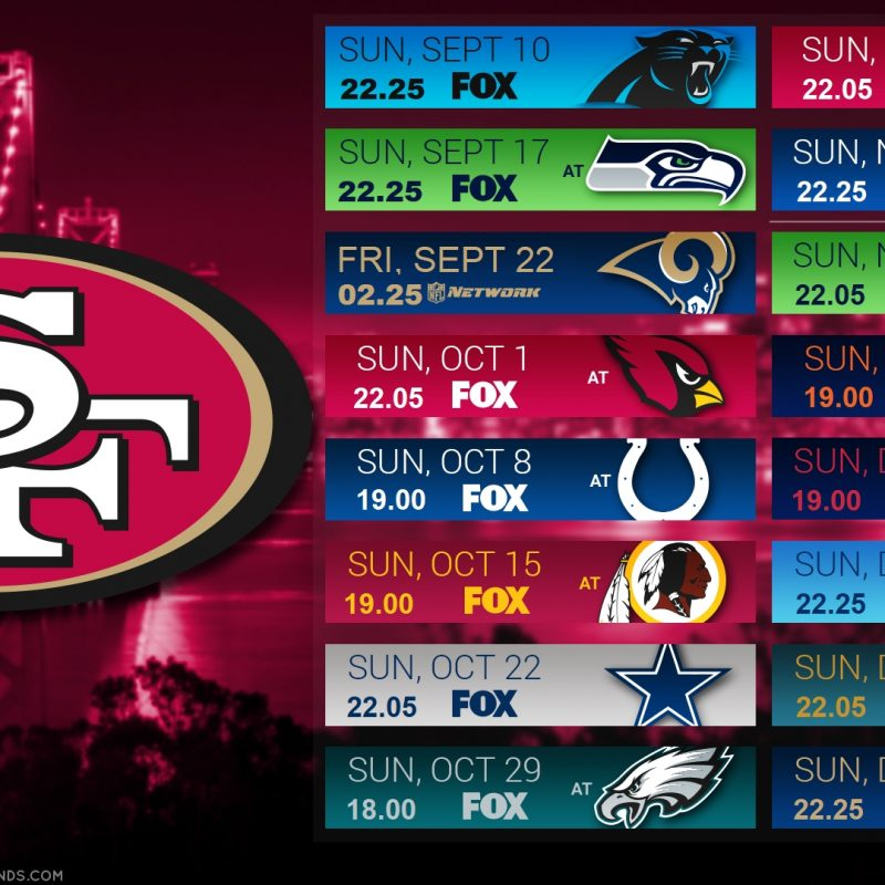 10 Top 49Ers 2017 Schedule Wallpaper FULL HD 1080p For PC Background 2018 free download 2017 schedule wallpaper europe niners nation 800x800