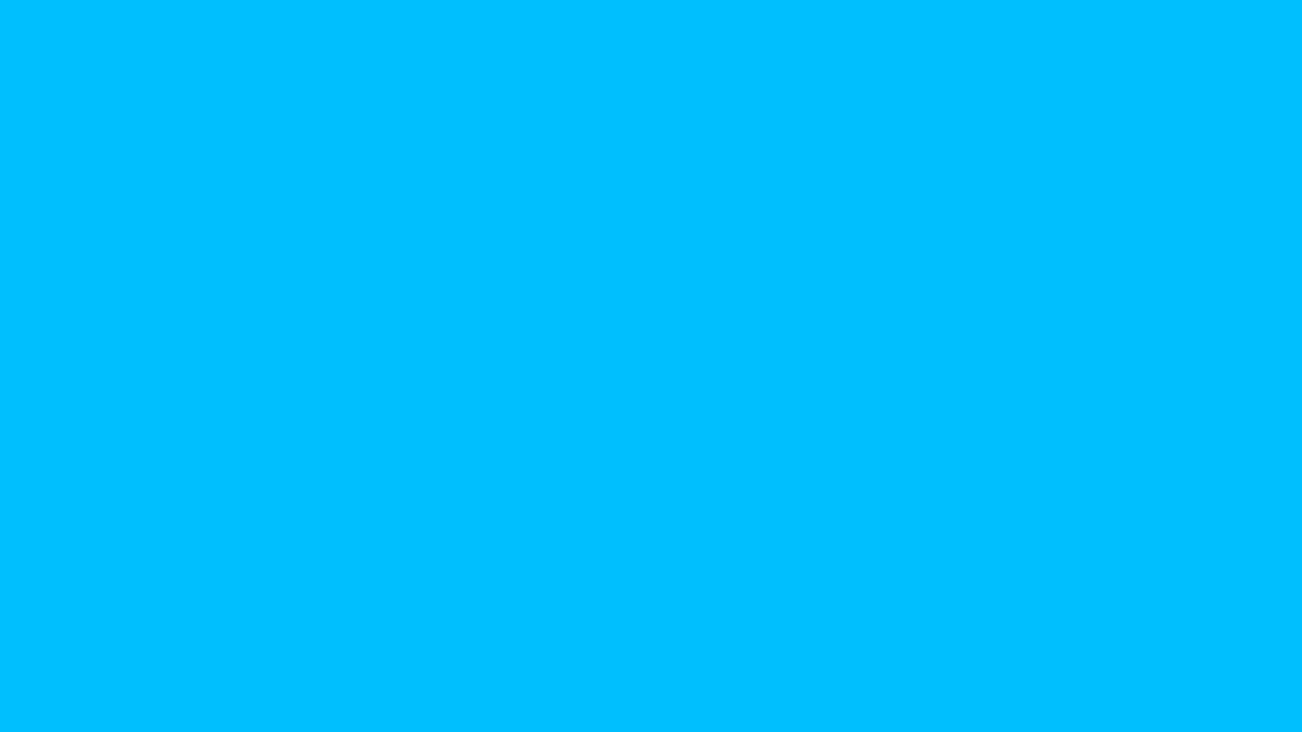 2560x1440 deep sky blue solid color background
