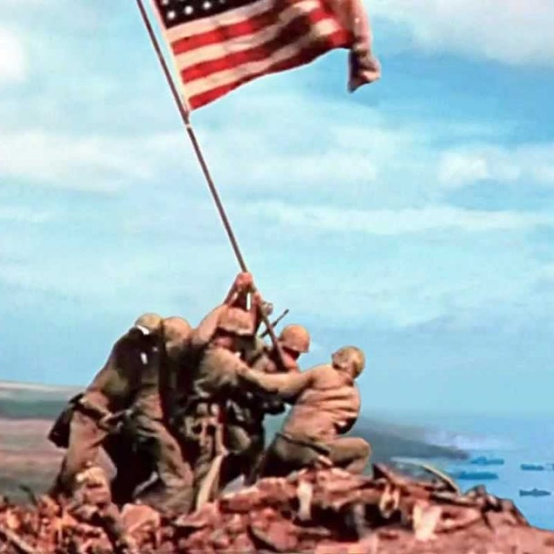 10 New Raising The Flag On Iwo Jima In Color FULL HD 1920×1080 For PC Desktop 2018 free download 2nd flag iwo jima youtube 800x800
