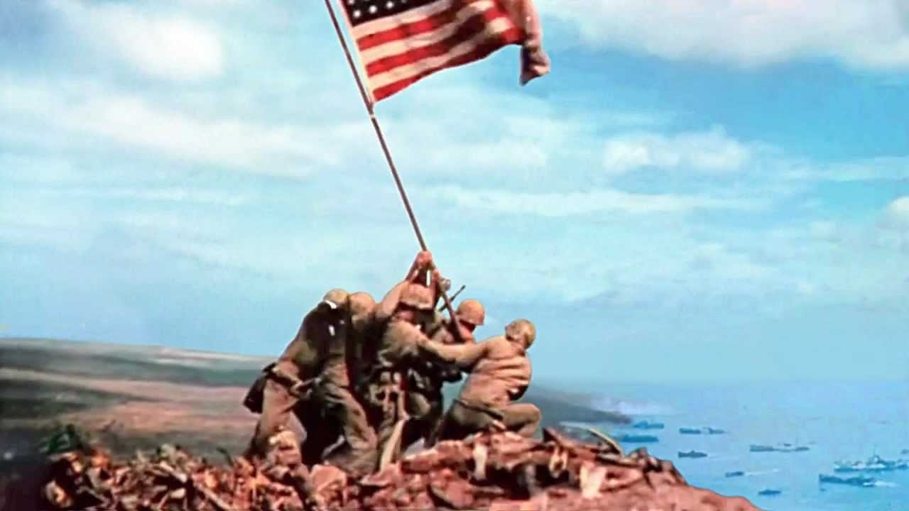 10 New Raising The Flag On Iwo Jima In Color FULL HD 1920×1080 For PC Desktop