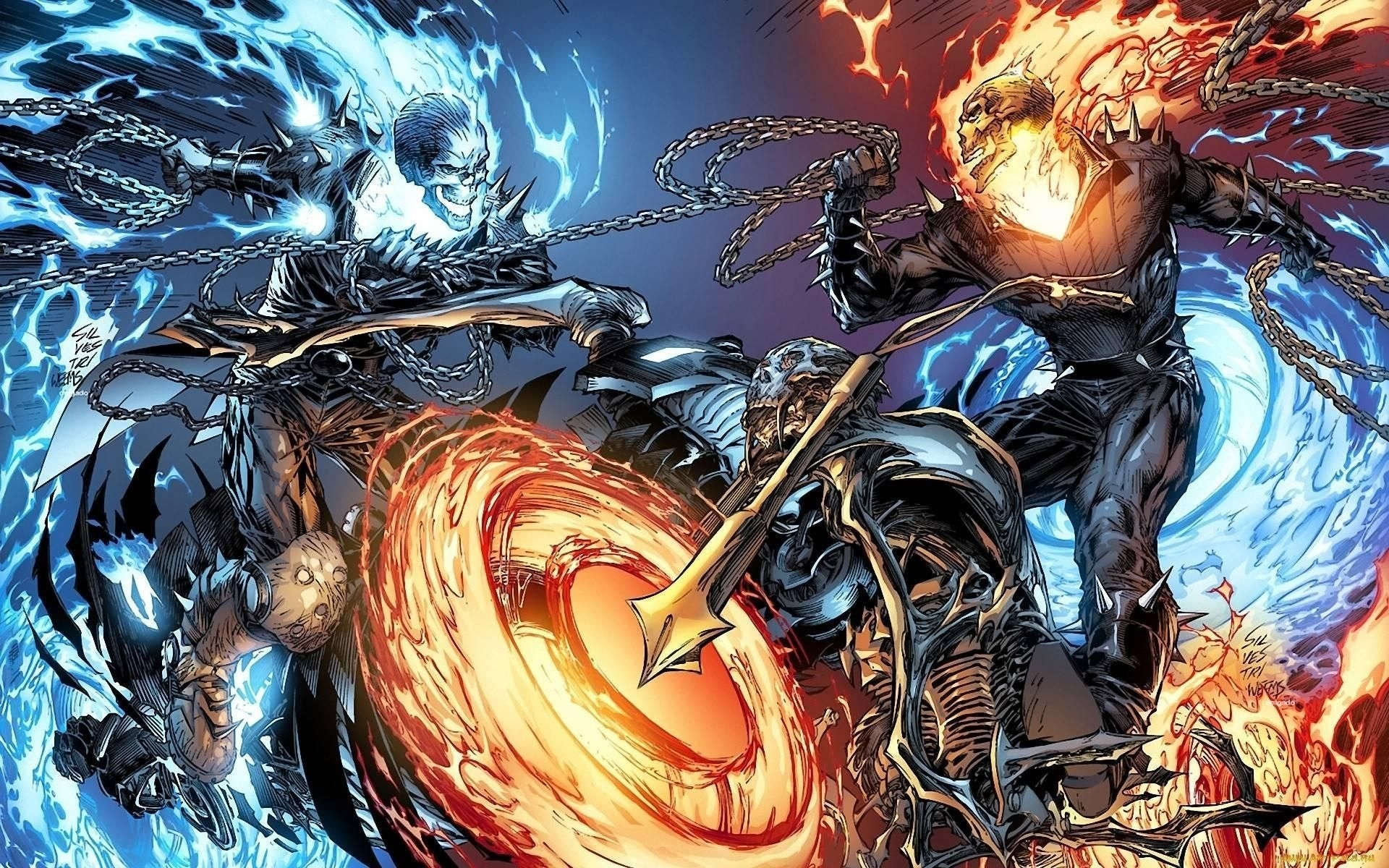 3 ghost rider photos for mobile and desktop