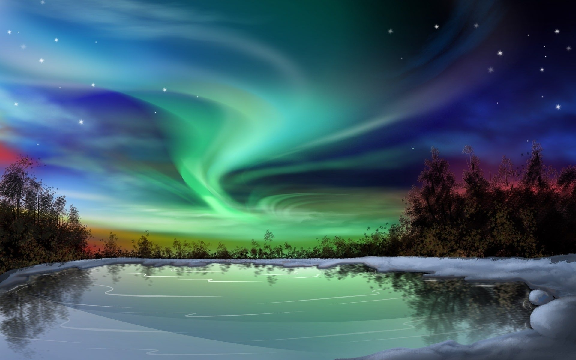 309 aurora borealis hd wallpapers | background images - wallpaper