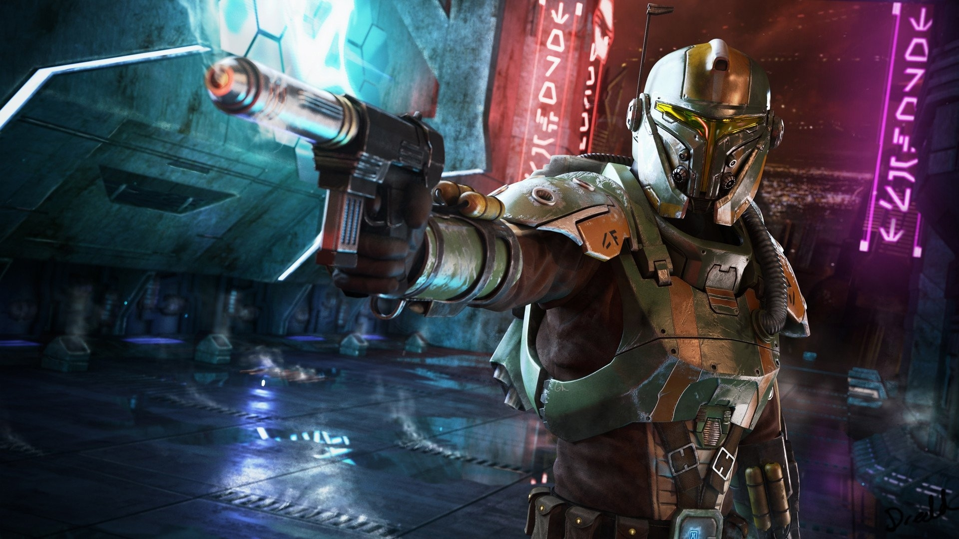 34 bounty hunter hd wallpapers | background images - wallpaper abyss