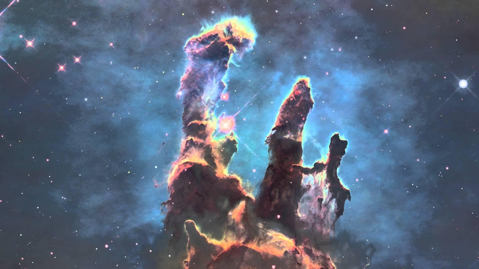 3d exploration of pillars of creation - youtube