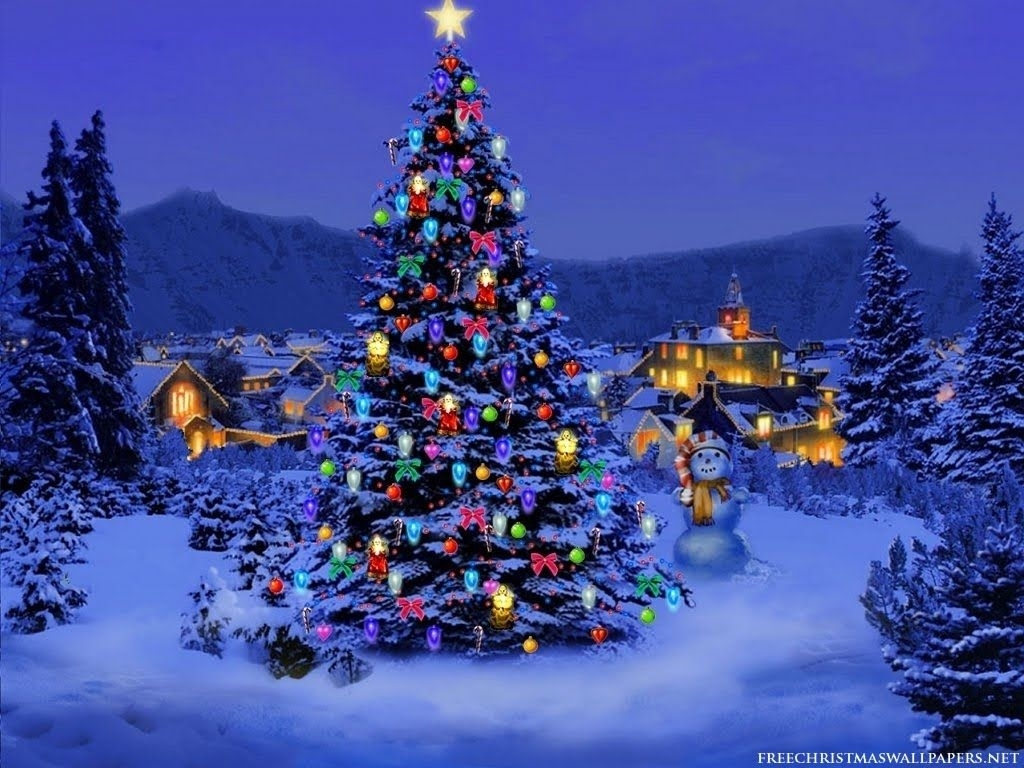 3d moving wallpaper    desktop wallpapers: christmas tree lights