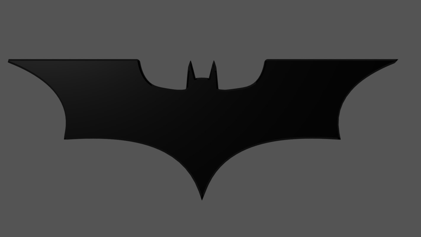 3d obj dark knight logo