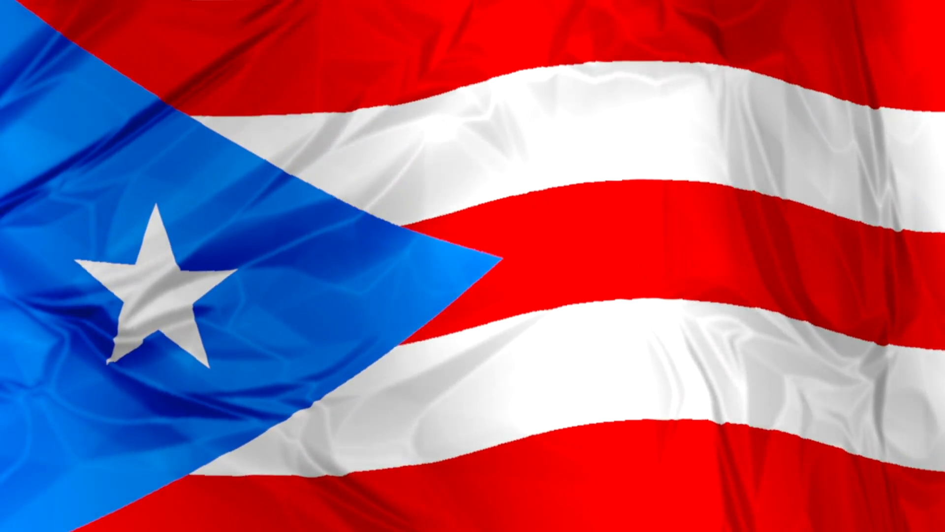 3d waving puerto rico flag background red, blue and white colors