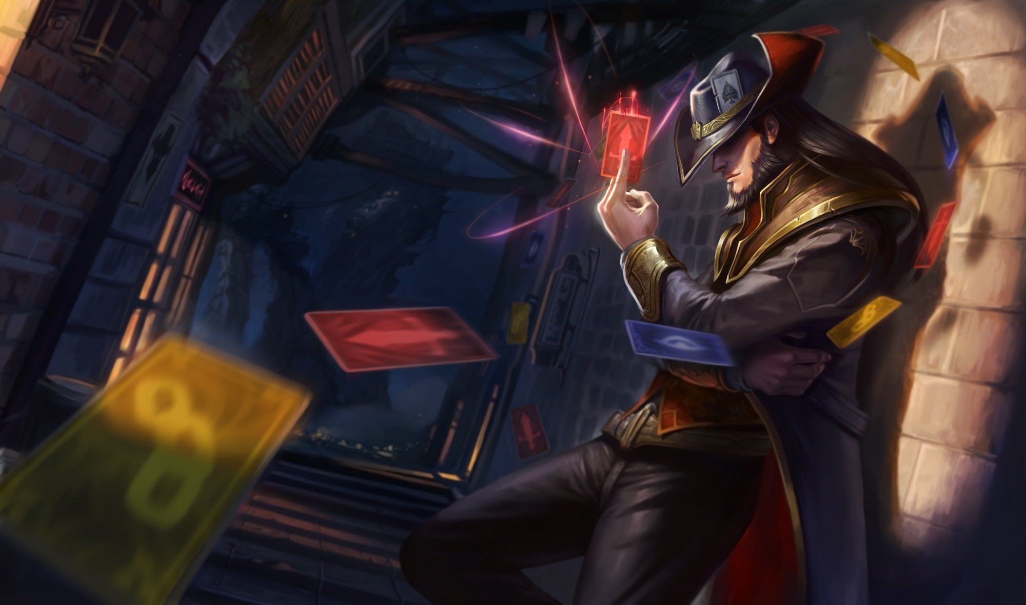 42 twisted fate (league of legends) fonds d'écran hd | arrière-plans