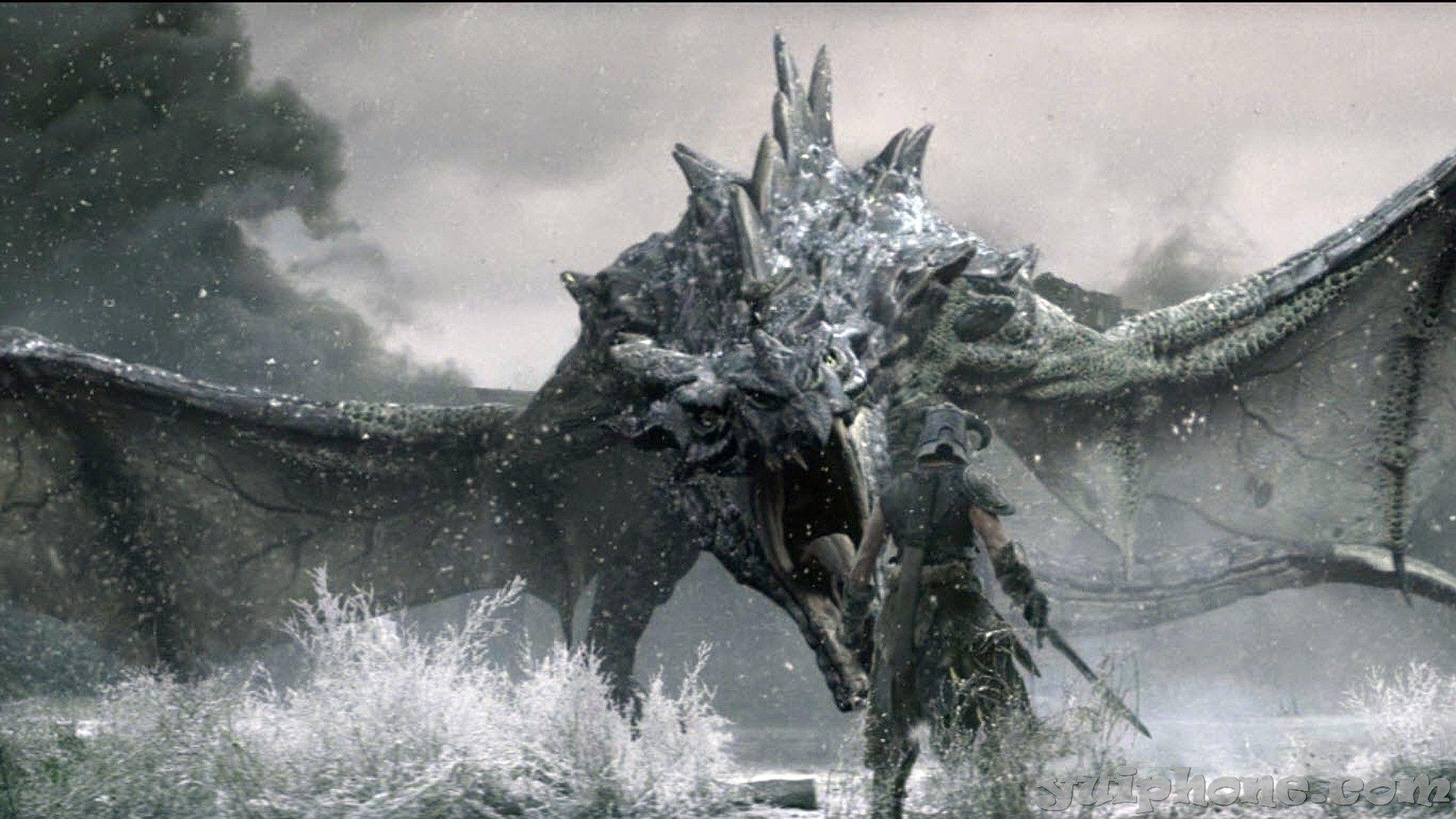 43+ skyrim dragon wallpaper