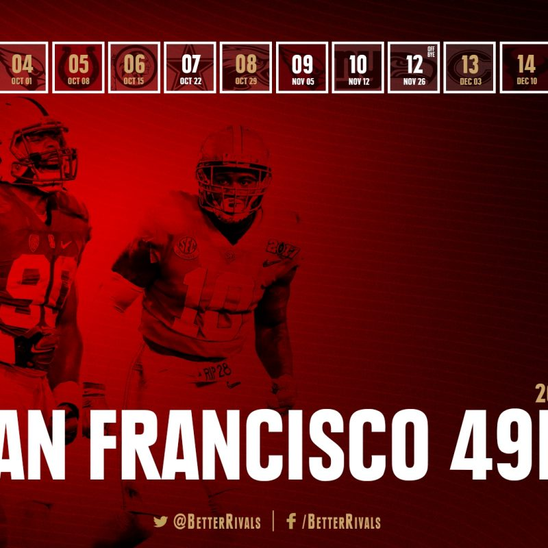 10 Top 49Ers 2017 Schedule Wallpaper FULL HD 1080p For PC Background 2018 free download 49ers 2017 schedule wallpapers for iphone android desktop niners 2 800x800
