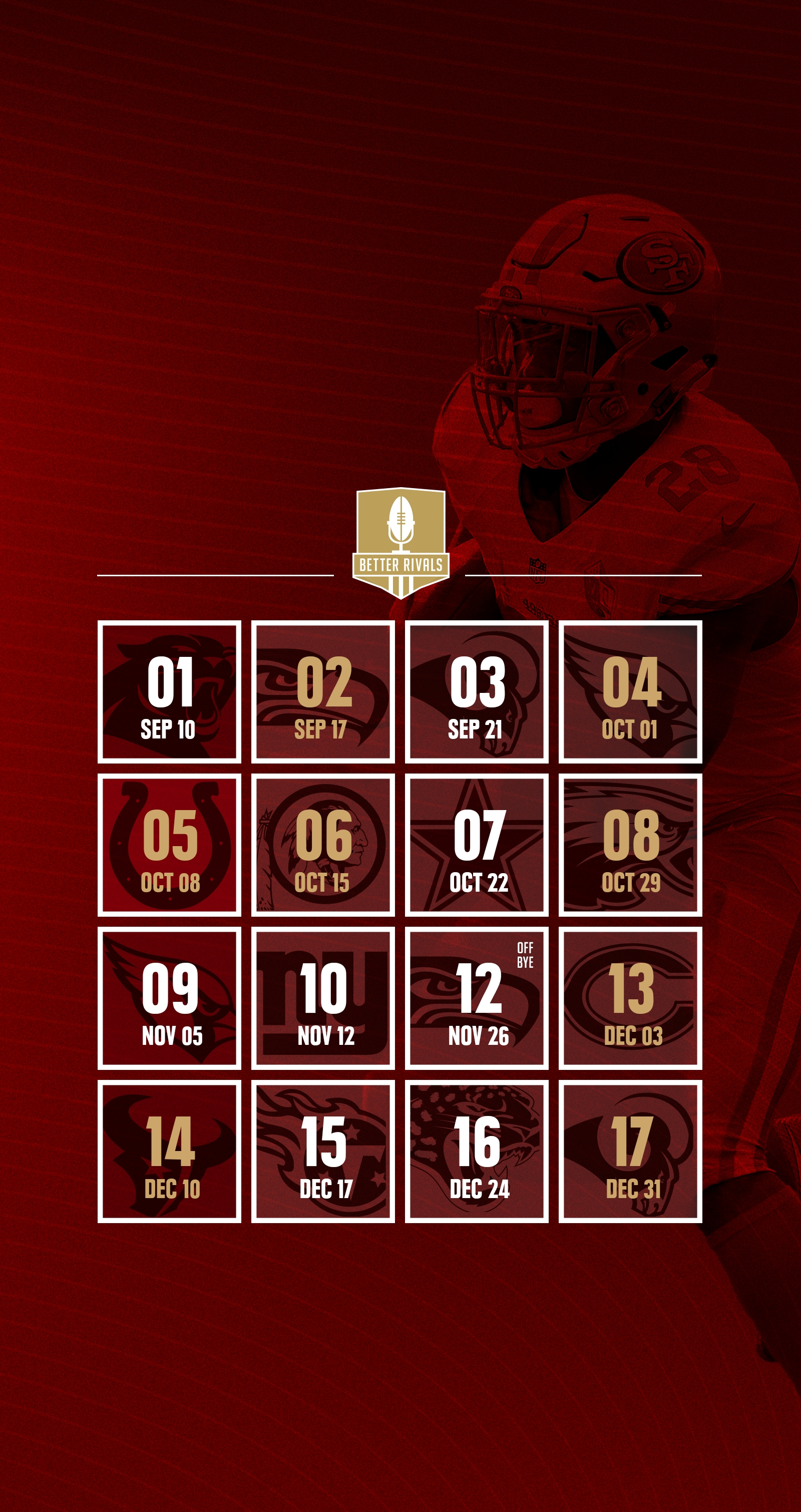 49ers 2017 schedule wallpapers for iphone, android, desktop - niners
