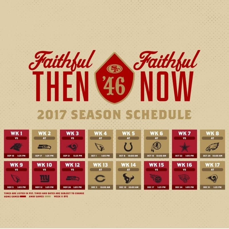 10 Top 49Ers 2017 Schedule Wallpaper FULL HD 1080p For PC Background 2018 free download 49ershive on twitter the 49ers released some fantastic new 800x800