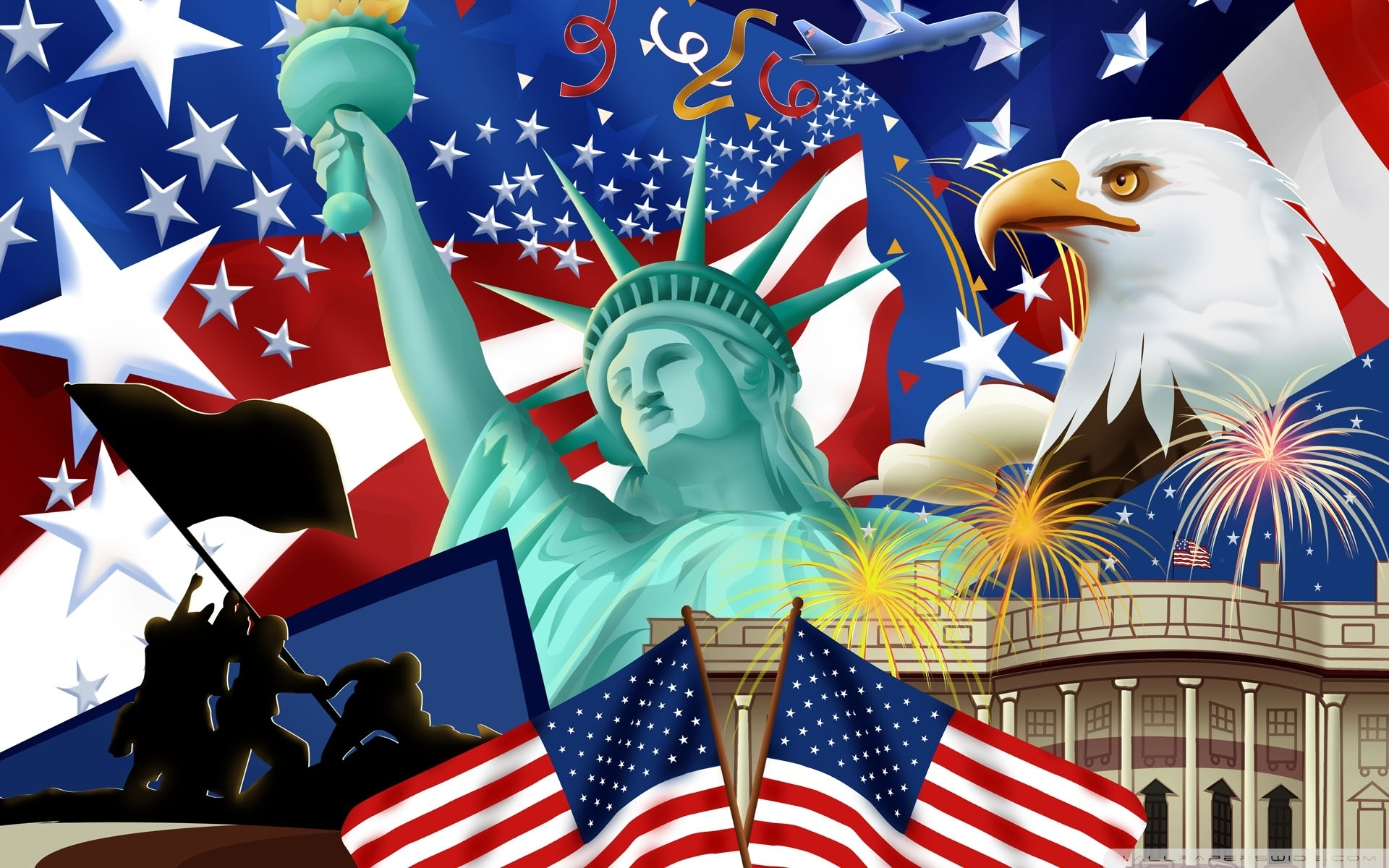 10 Top 4 Of July Wallpaper FULL HD 1920×1080 For PC Background