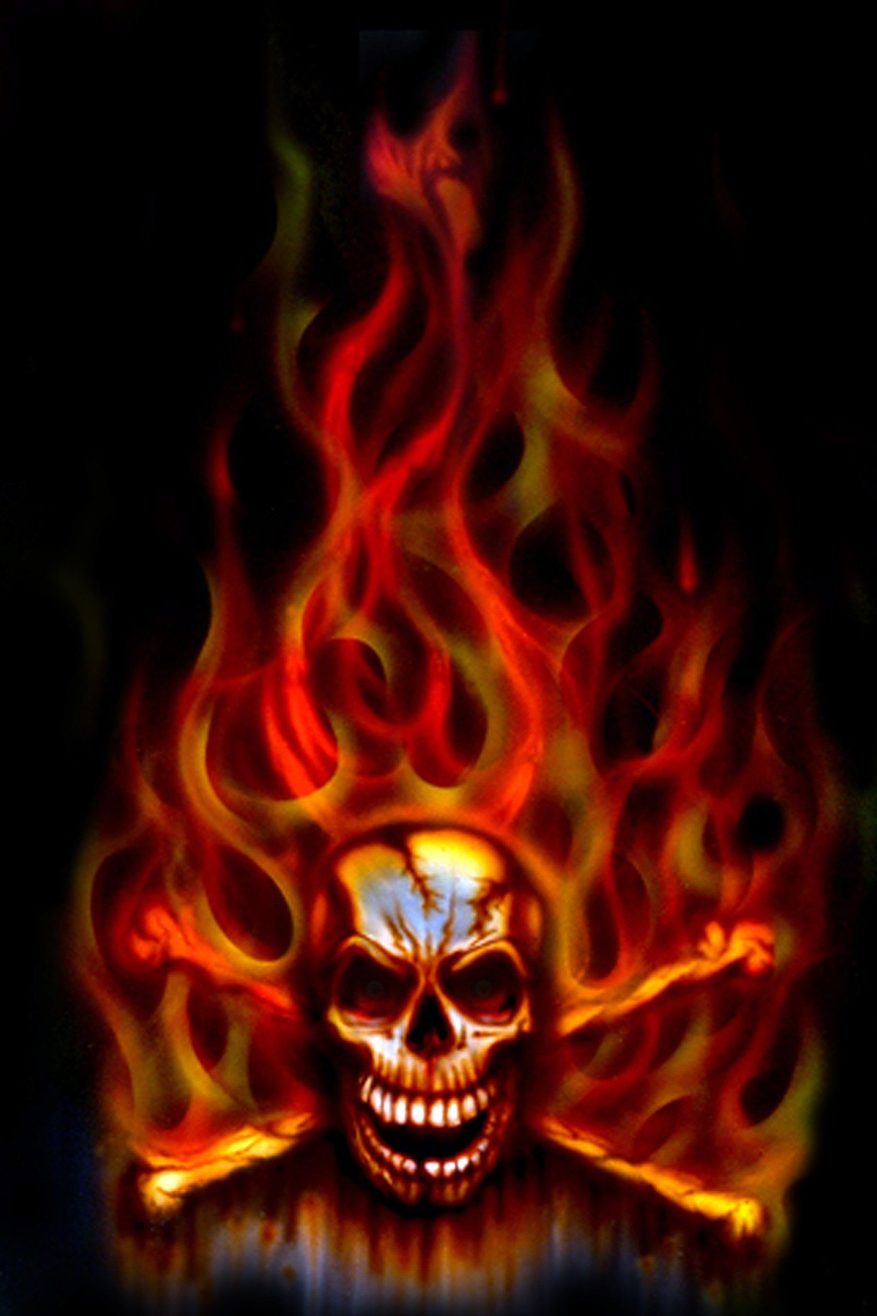 55+ flaming skulls wallpapers on wallpaperplay