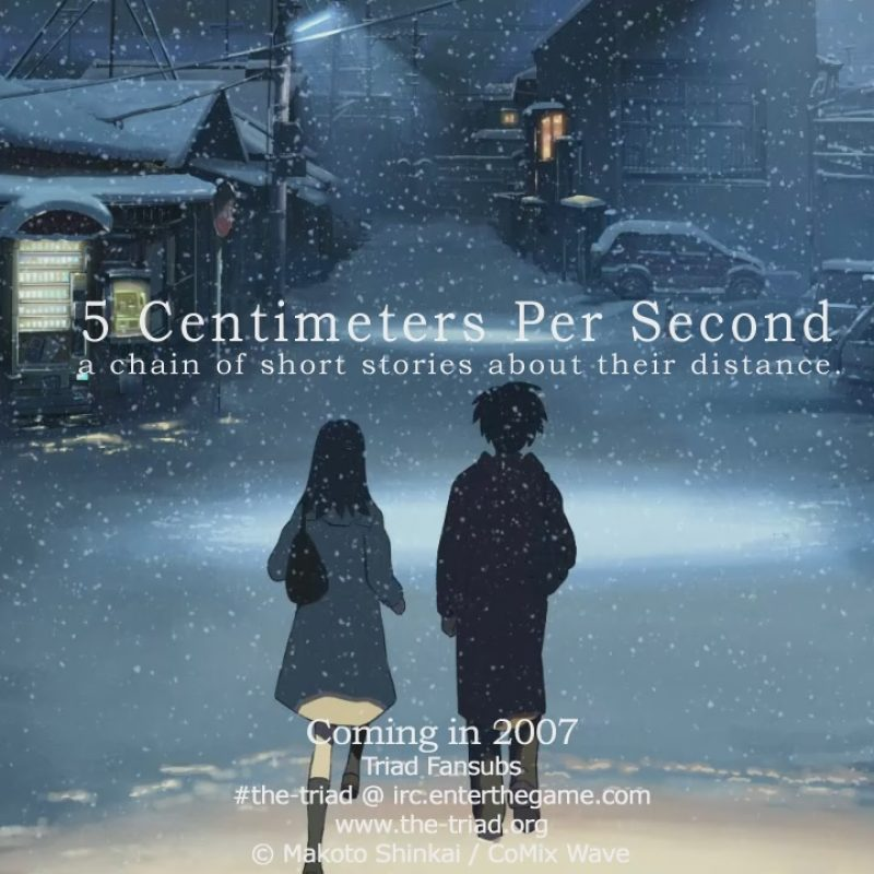 10 New 5 Centimeters Per Second Poster FULL HD 1080p For PC Background 2018 free download 5cm per second troisieme partie 5 centimetres par seconde 5 cm 800x800