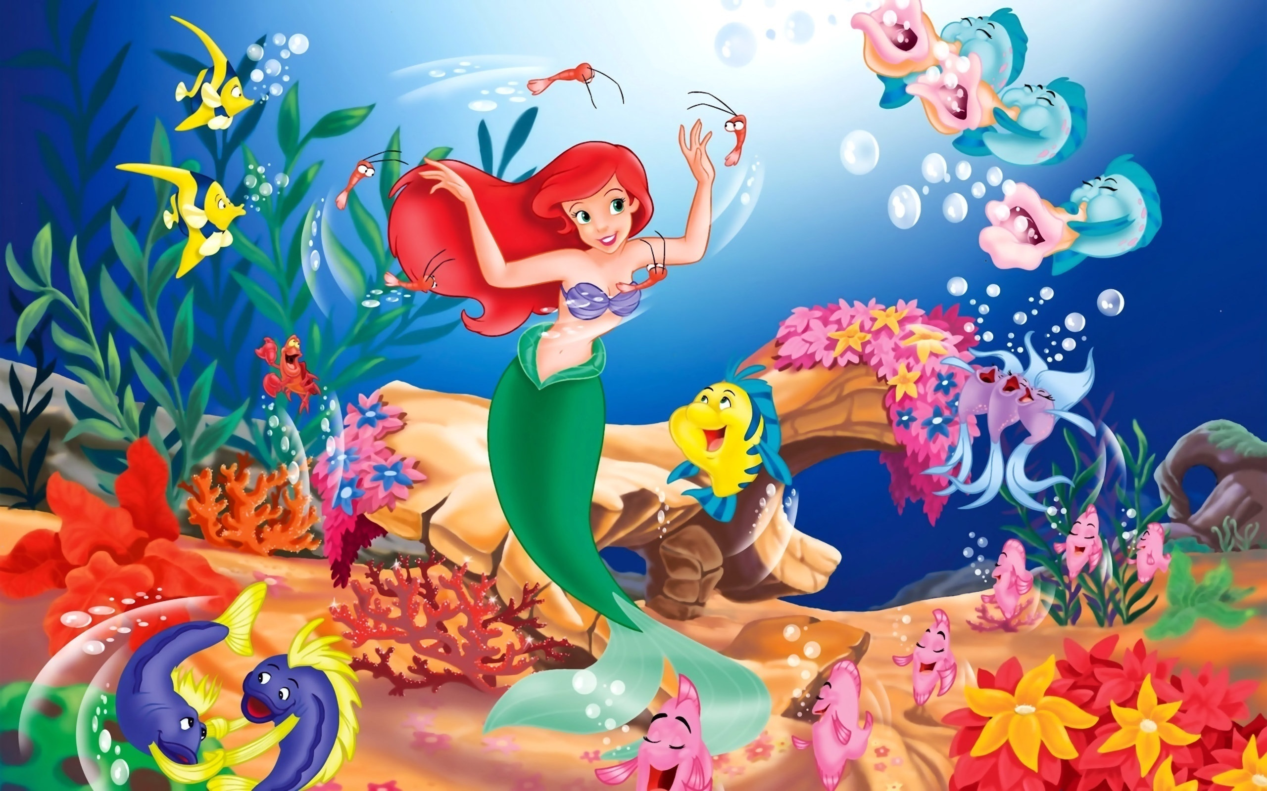 61 the little mermaid hd wallpapers | background images - wallpaper
