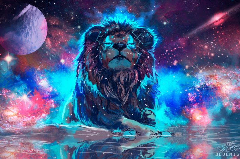 10 Latest Galaxy Lion Wallpaper FULL HD 1920×1080 For PC Background 2018 free download 68 colorful lion wallpapers on wallpaperplay 800x531