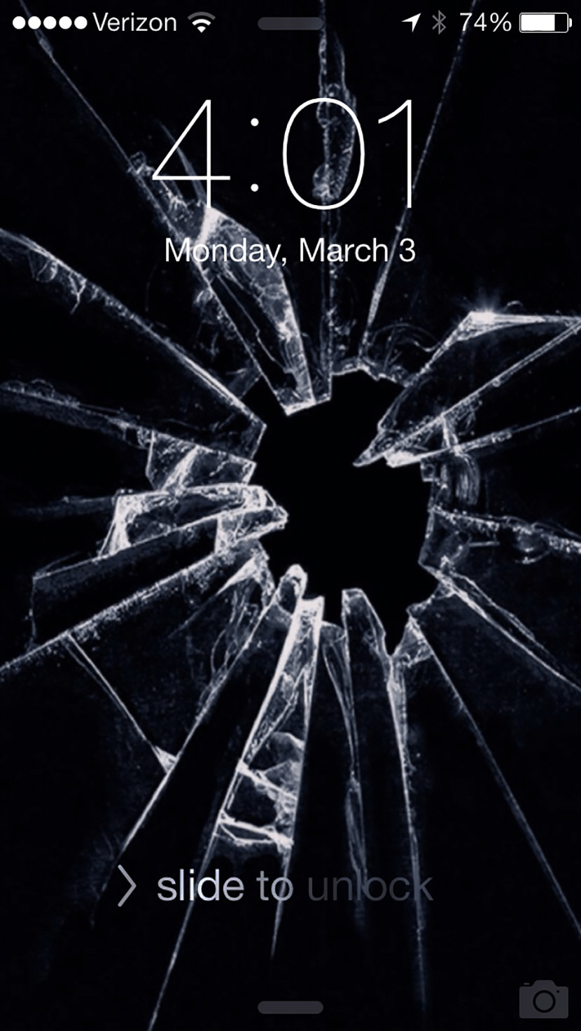 7 broken screen wallpapers for apple iphone - best prank to fool