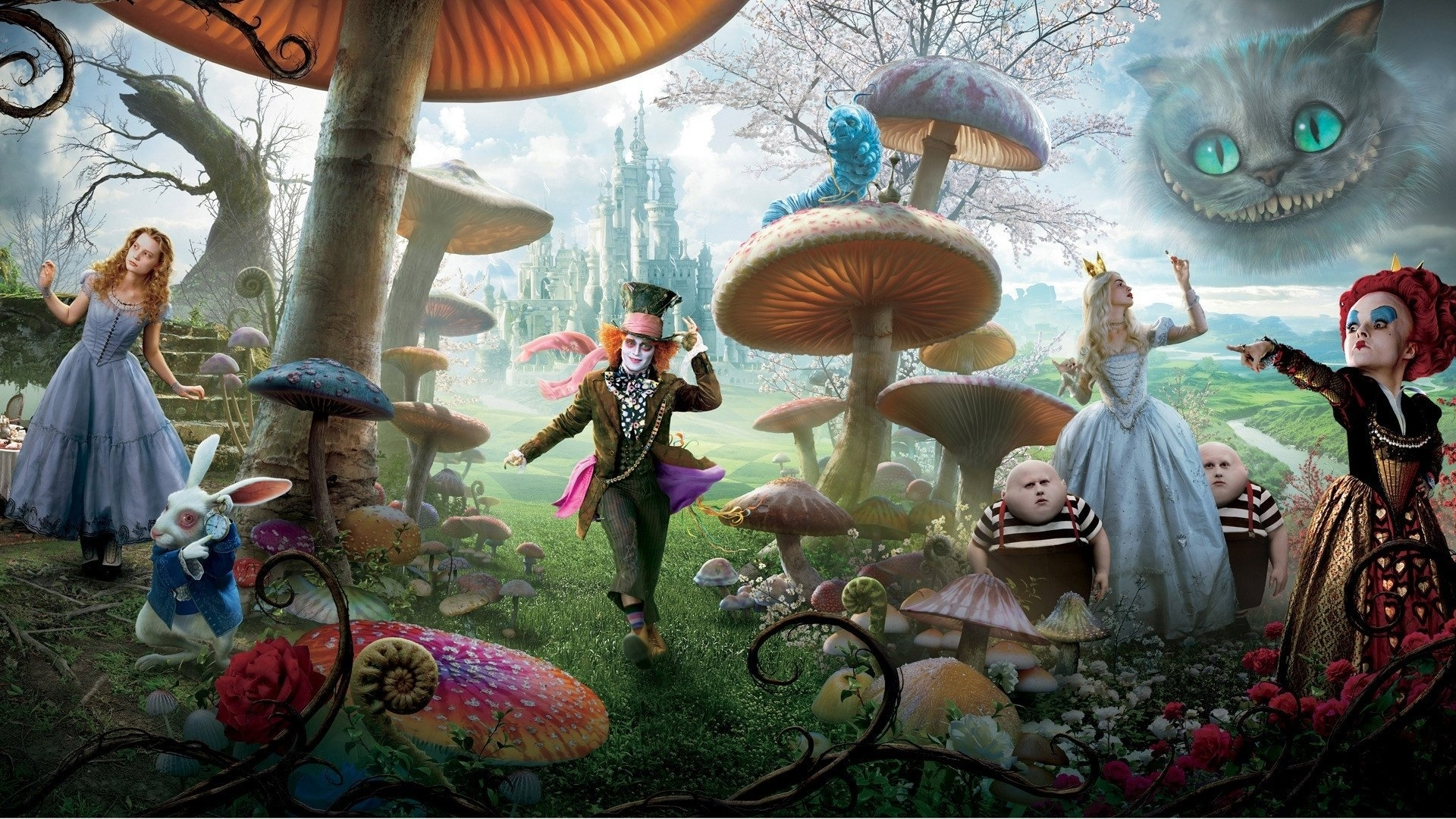 87 alice in wonderland (2010) hd wallpapers | background images