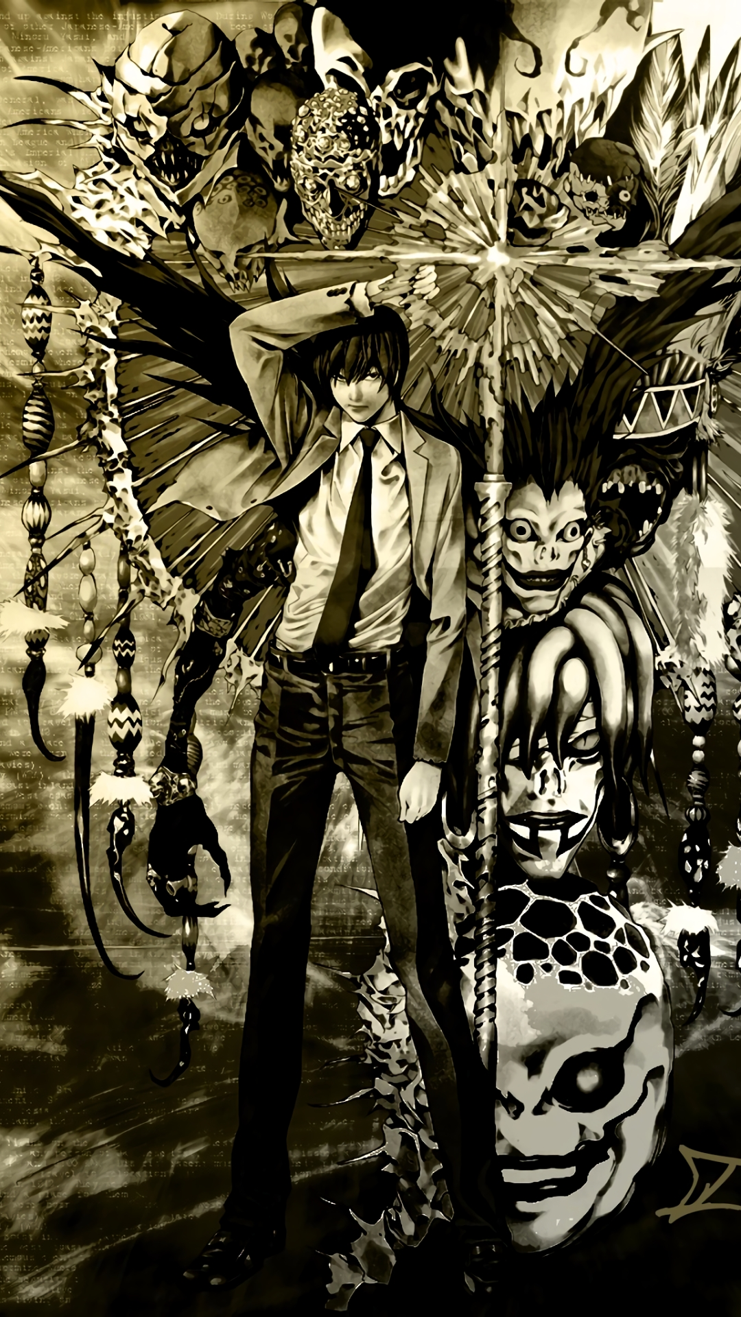 97 death note htc/windows phone 8x (720x1280) wallpapers - mobile abyss