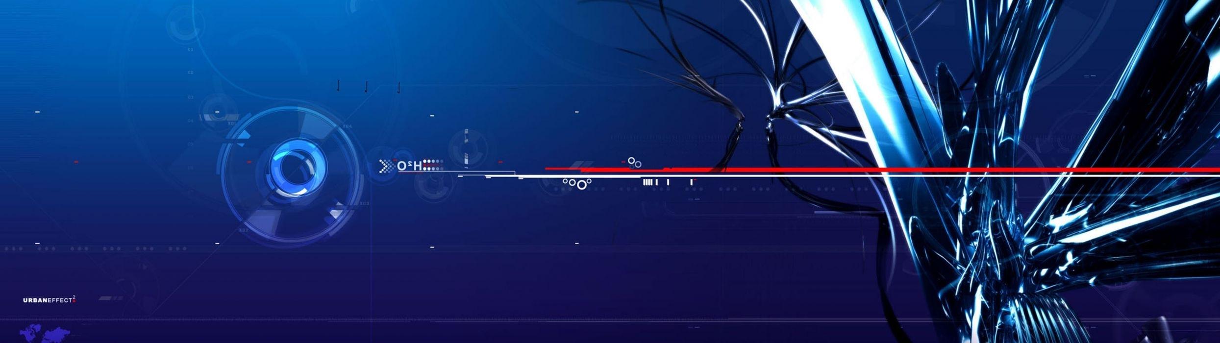 abstract dual screen wallpaper | 3840x1080 | 65457 | wallpaperup