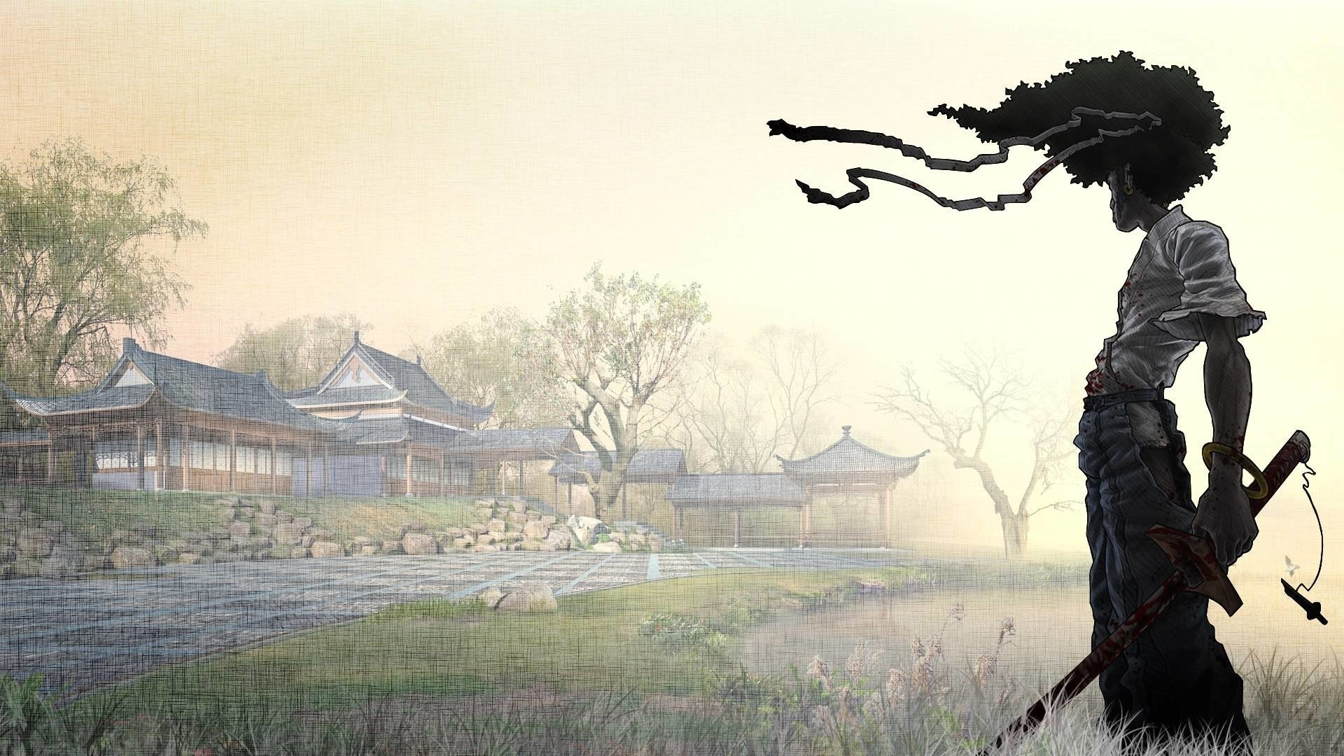 afro samurai full hd fond d'écran and arrière-plan | 1920x1080 | id