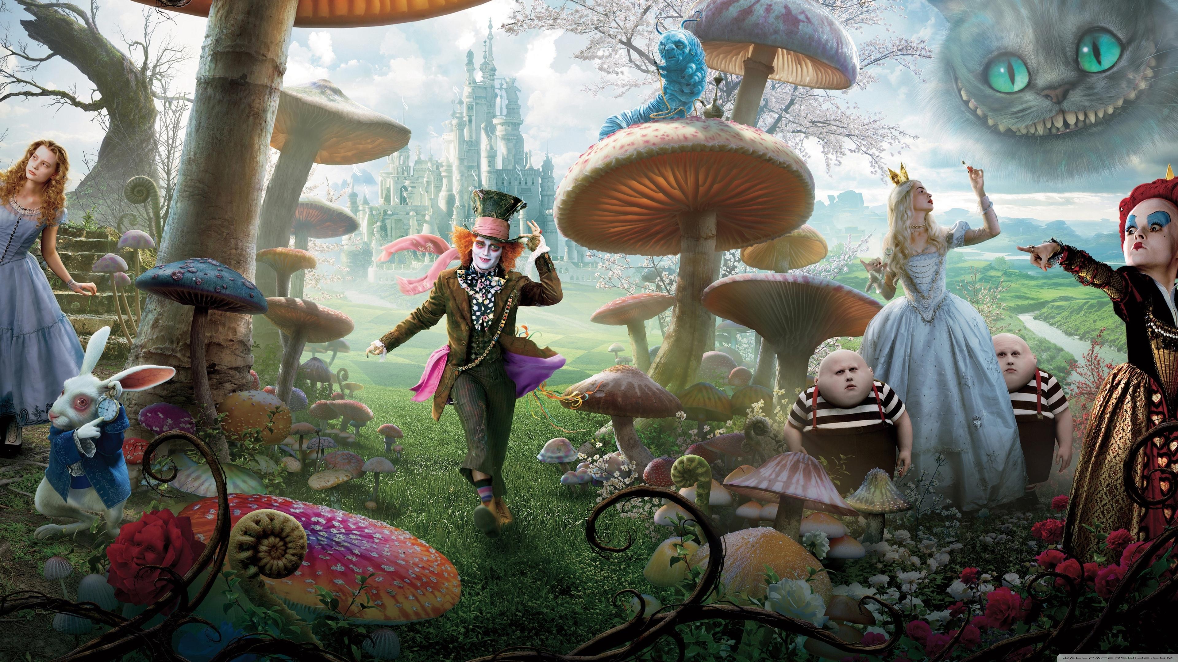 alice in wonderland movie 2010 ❤ 4k hd desktop wallpaper for 4k