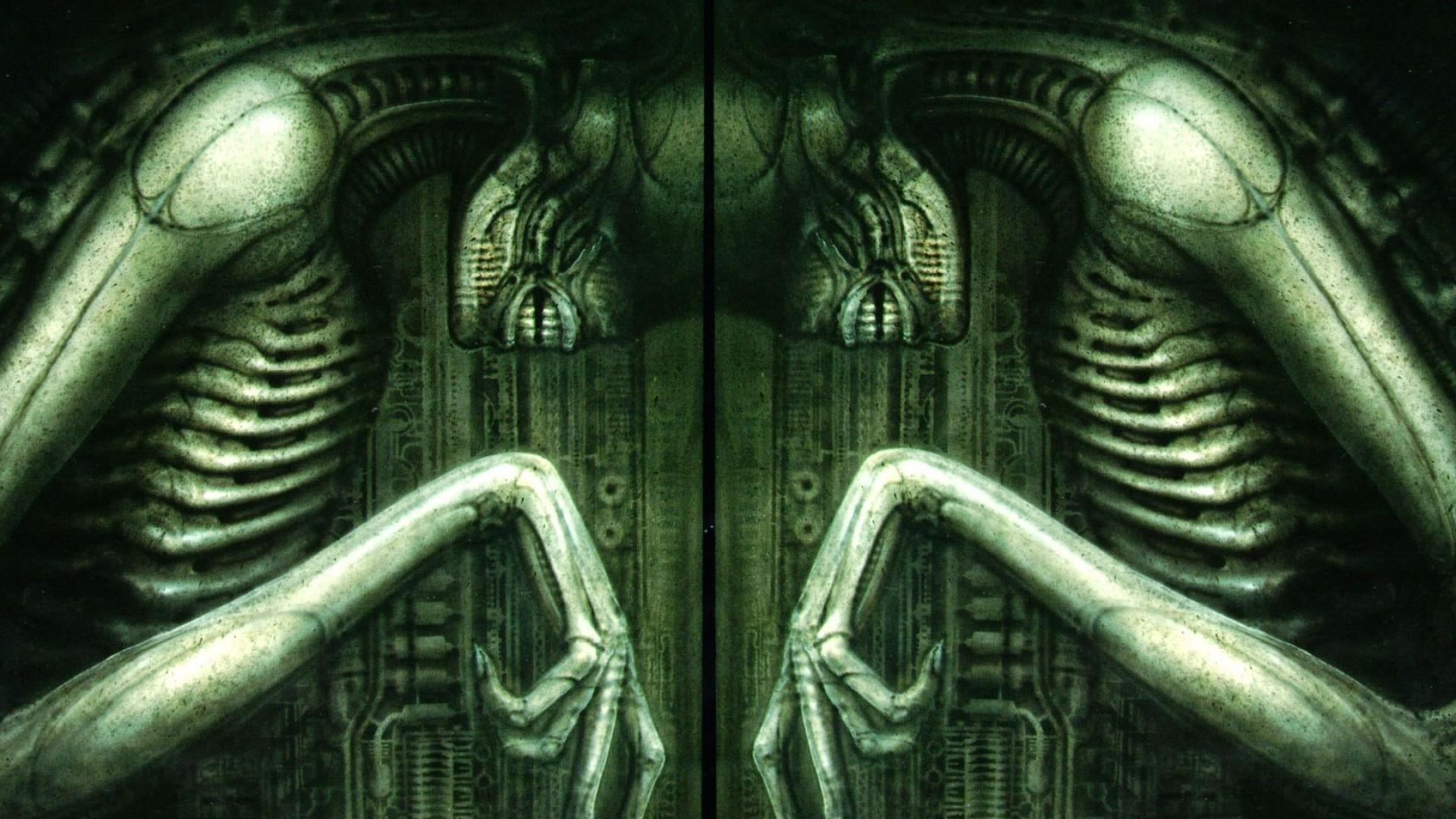 alien h.r. giger hr xenomorph artwork wallpaper | (83821)