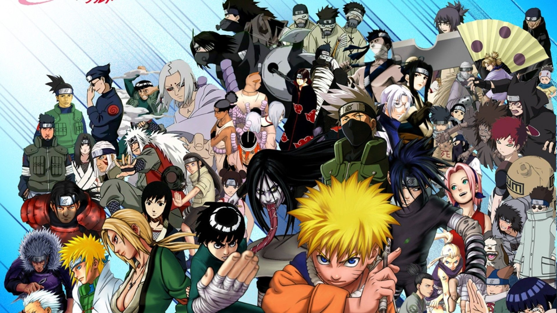 10 Most Popular Naruto All Characters Wallpaper FULL HD 1920×1080 For PC Desktop