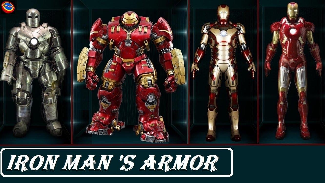 all iron man armor - youtube