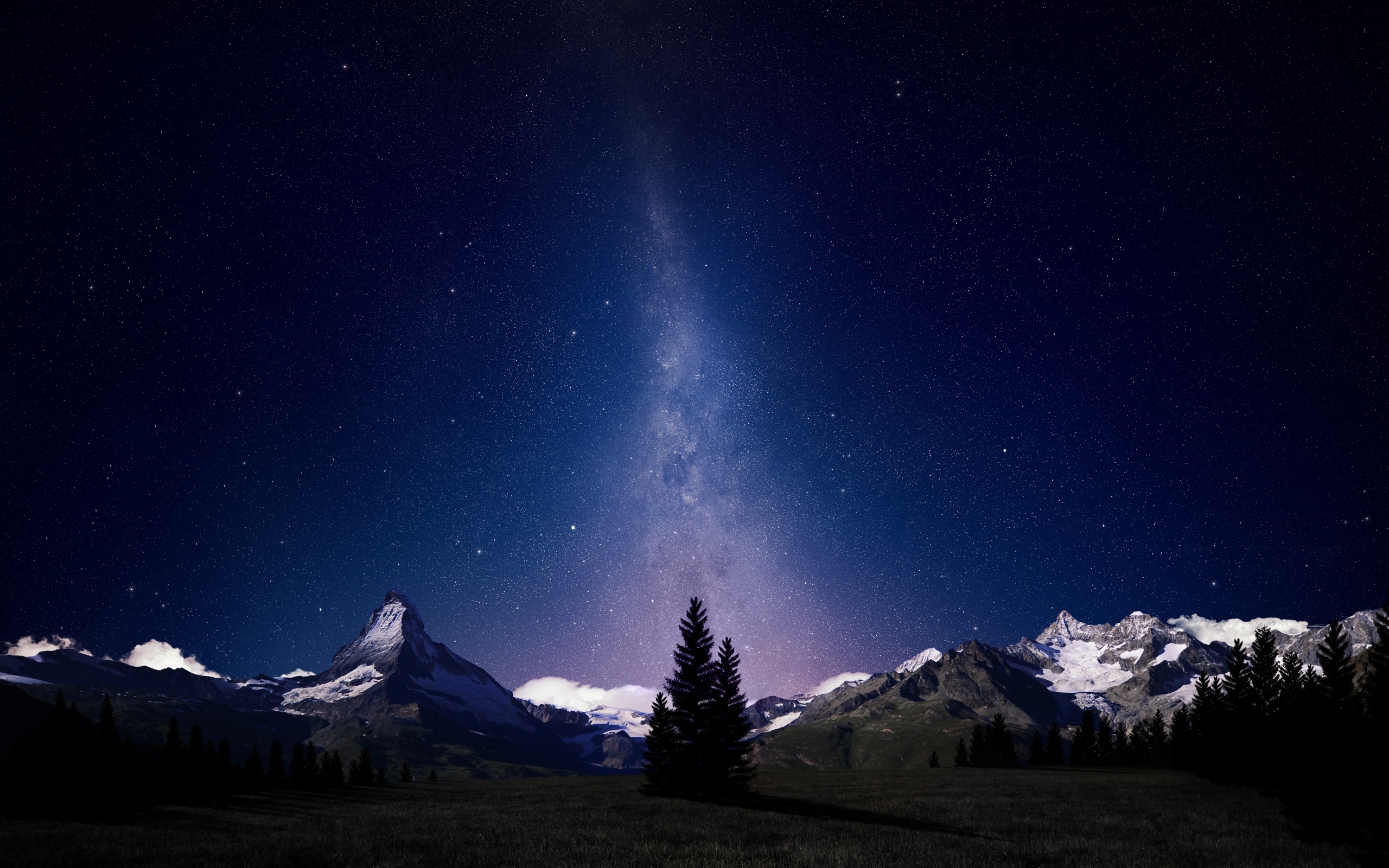 alpine night sky full hd fond d'écran and arrière-plan | 2560x1600