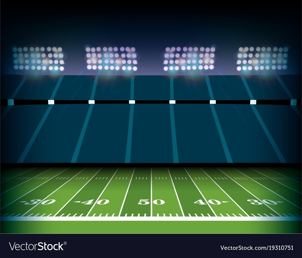 american football stadium and field background vector image