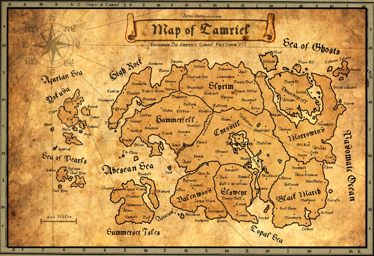 ancient map of tamriel | elder scrolls | pinterest | skyrim and