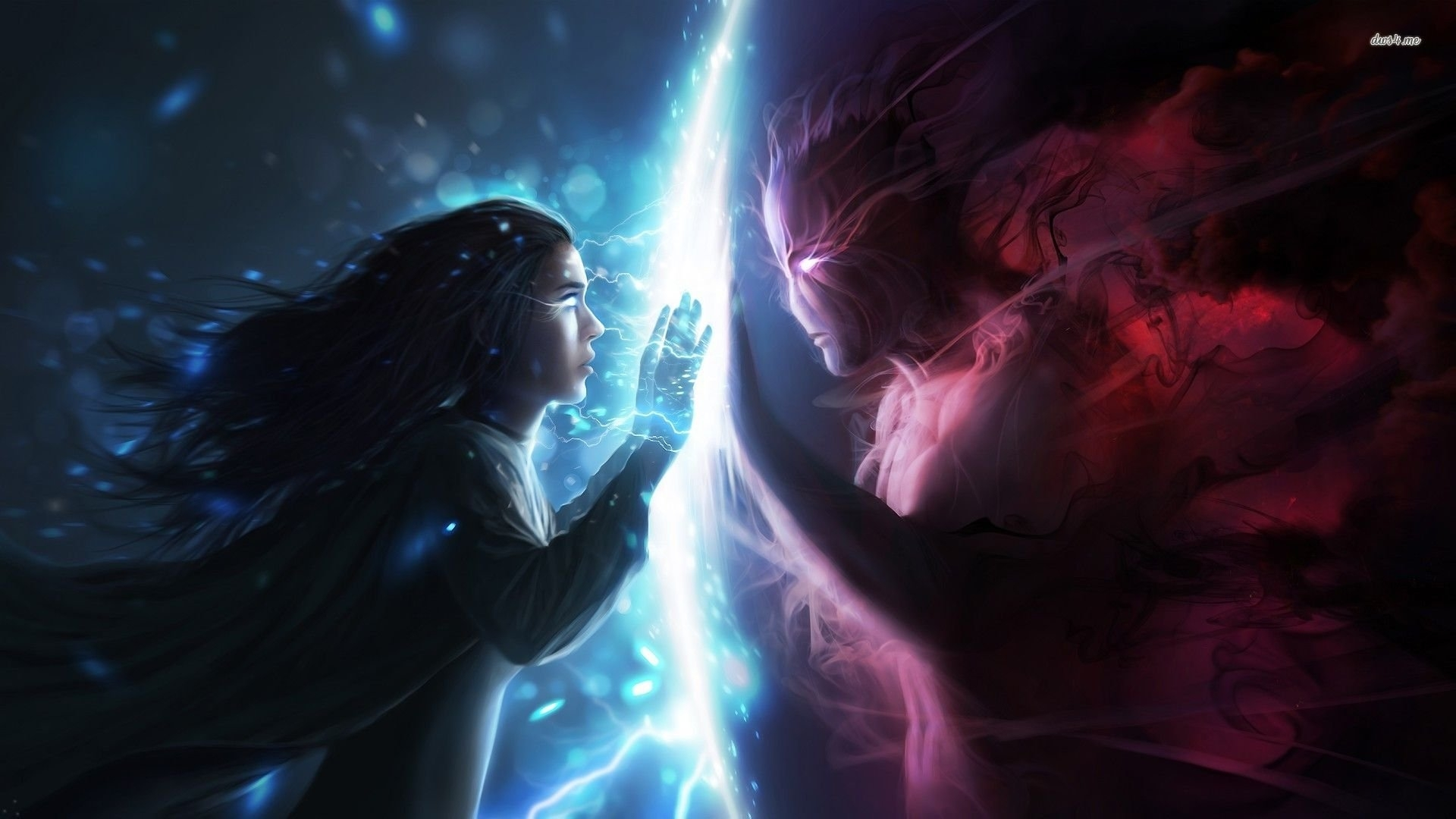 angel and demon romance - walldevil