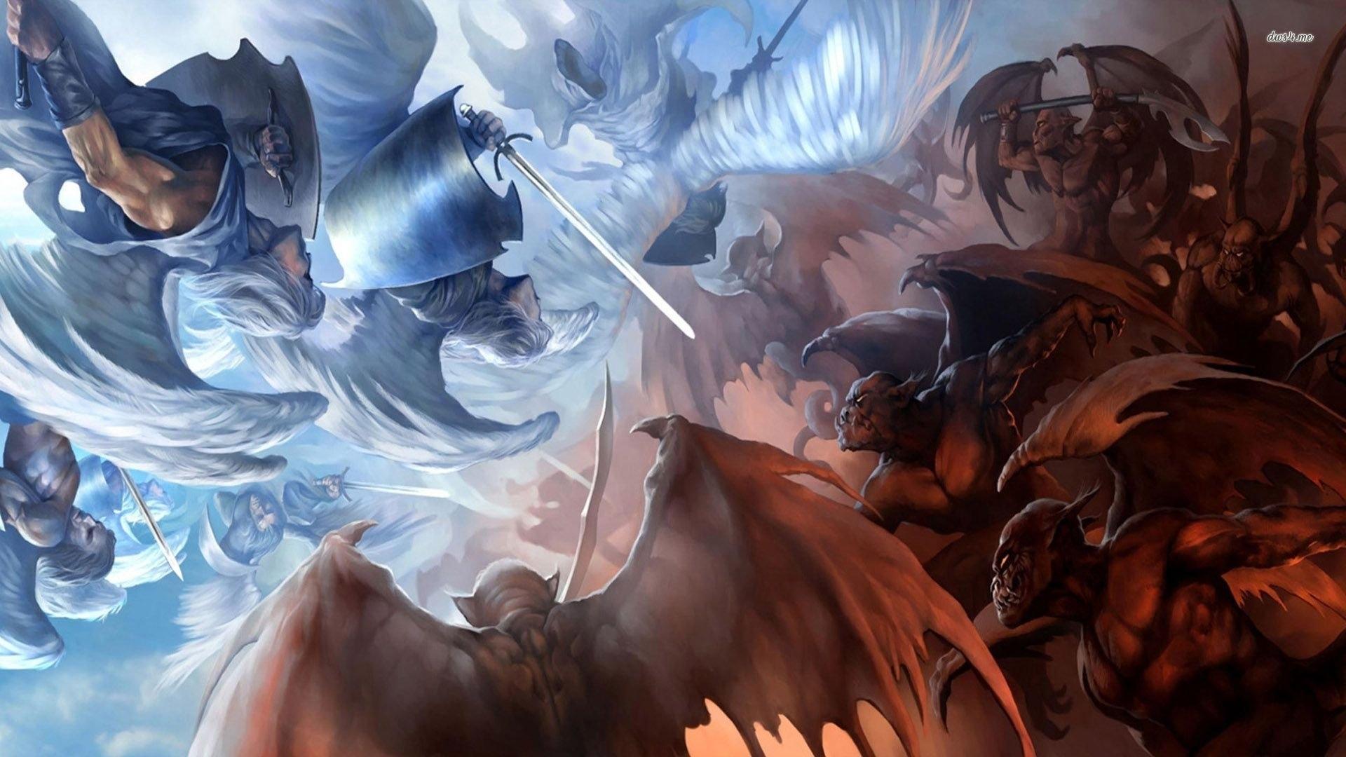 angels vs demons - walldevil