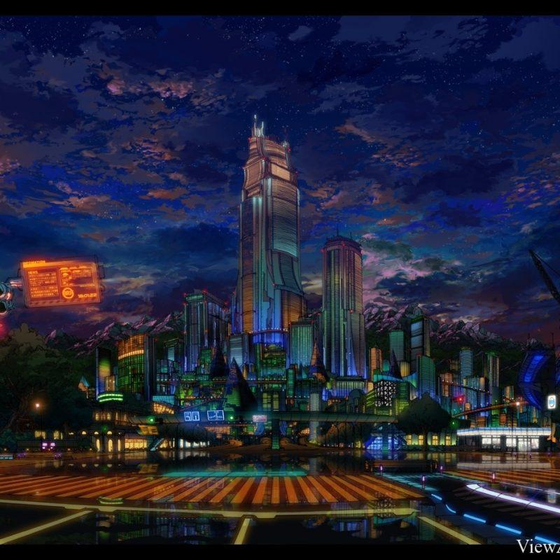 10 Most Popular Anime City Night Wallpaper FULL HD 1920