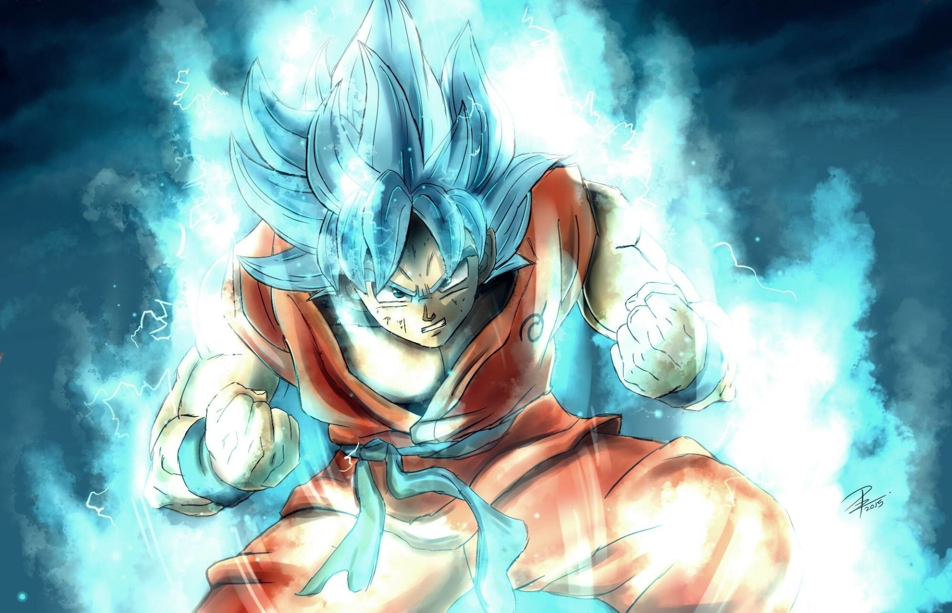 anime dragon ball super goku super saiyan blue wallpaper | dragon