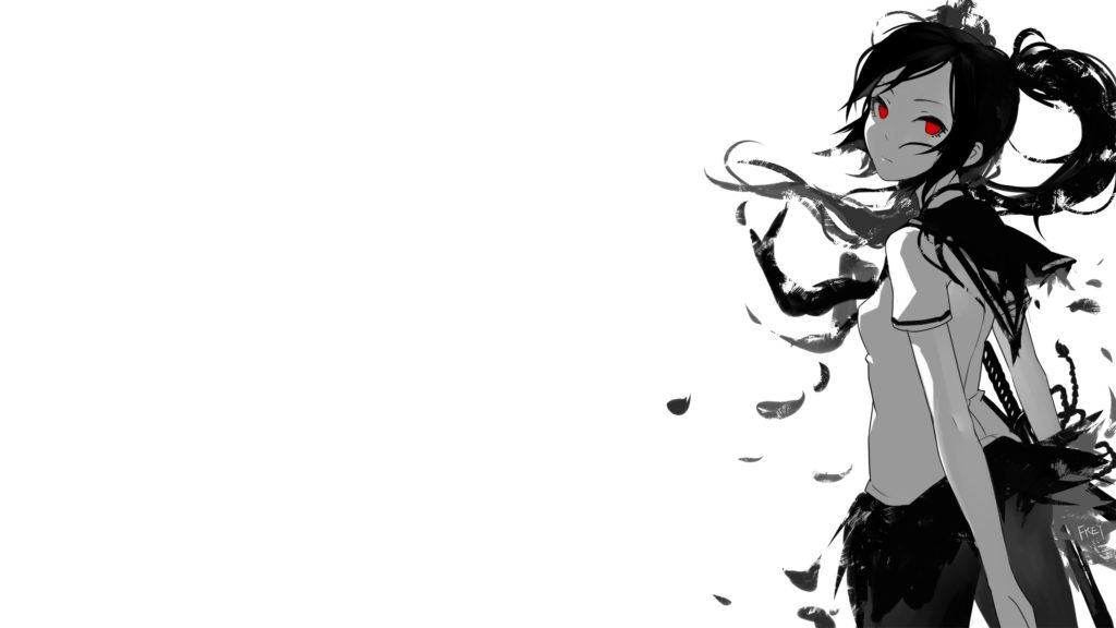 10 Top Black And White Anime Background FULL HD 1080p For PC Background 2021 free download anime girls black and white fkey grayscale katana long hair 1024x576