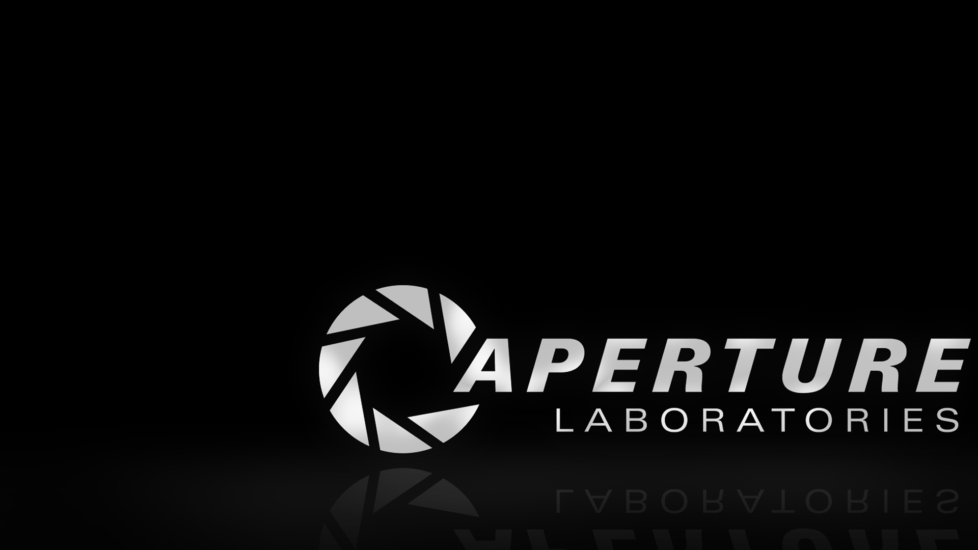 aperture science b/w hd wallpaper » fullhdwpp - full hd wallpapers