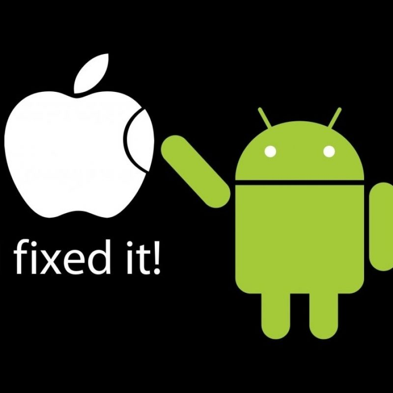 10 Best Android Vs Apple Wallpapers FULL HD 1080p For PC Background 2018 free download apple vs android i fixed it funny wallpaper 800x800