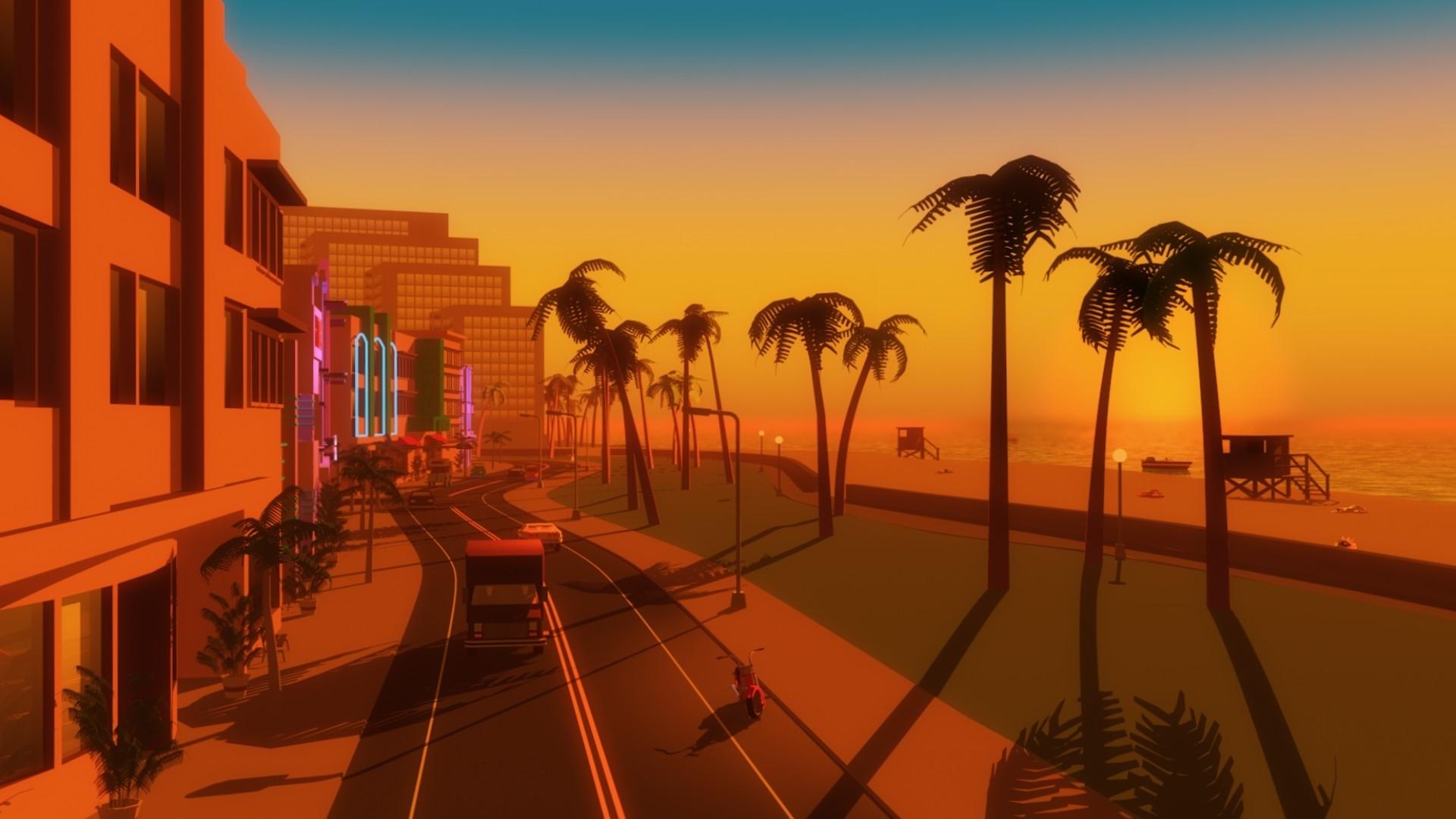 arbres jeux vidéo de palmiers gta vice city beach papier peint